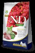 Беззерновой cухой корм FARMINA ND для собак малых пород с ягненком и киноа поддержка пищеварения (Quinoa Digestion Lamb Adult Mini)