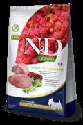 Беззерновой cухой корм FARMINA ND для собак малых пород с ягненком и киноа контроль веса (Quinoa Weight Management Lamb Adult Mini)