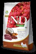Беззерновой cухой корм FARMINA ND для собак малых пород с олениной и киноа для кожи и шерсти (Quinoa Skin/Coat Venison Adult Mini)