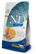 Беззерновой cухой корм FARMINA ND для стерилизованных кошек с рыбой и апельсином (Ocean Herring/Orange Neutered Adult)