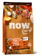 Беззерновой cухой корм NOW Fresh для пожилых собак/контроль веса с индейкой, уткой и овощами Senior Recipe Grain Free