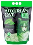 Соевый биоразлагаемый комкующийся наполнитель Сибирская кошка Tofu Green Tea с ароматом зеленого чая