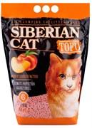 Соевый биоразлагаемый комкующийся наполнитель Сибирская кошка Tofu Peach с ароматом персика
