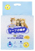 Биоразлагаемый соевый комкующийся наполнитель HAKASE AREKKUSU Bio Clumping Cat Litter Original