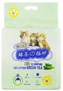 Биоразлагаемый соевый комкующийся наполнитель HAKASE AREKKUSU Bio Clumping Cat Litter Green Tea с ароматом зеленого чая