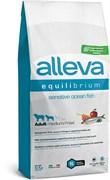 Сухой корм Alleva Equilibrium для взрослых собак средних и крупных пород с океанической рыбой и рисом Sensitive Ocean Fish Medium/Maxi