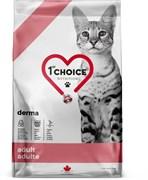 Беззерновой сухой корм 1st Choice Care Derma для кошек с лососем с гиперчувствительной кожей