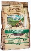 Беззерновой сухой корм Natural Greatness для взрослых собак всех пород с ягненком для чувствительного пищеварения Lamb Recipe Sensitive