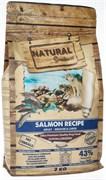 Беззерновой сухой корм Natural Greatness для взрослых собак средних и крупных пород с лососем для чувствительного пищеварения Salmon Recipe Sensitive Adult Medium/Large