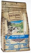 Беззерновой сухой корм Natural Greatness для взрослых собак малых пород пород с лососем для чувствительного пищеварения Salmon Recipe Sensitive Adult Mini