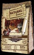 Беззерновой сухой корм Natural Greatness для взрослых собак всех пород с индейкой Turkey Recipe