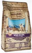 Беззерновой сухой корм Natural Greatness для щенков и собак всех пород с кроликом, уткой, курицей и индейкой Wild Recipe