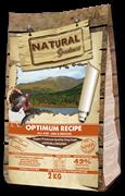 Низкозерновой сухой корм Natural Greatness для щенков и собак малых и средних пород с курицей и индейкой Optimum Recipe Mini/Medium