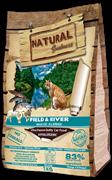 Беззерновой сухой корм Natural Greatness для кошек с лососем и янгенком Field and River Recipe Adult Cat
