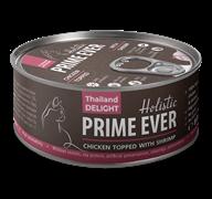 Консервы Prime Ever Holistic для котят и кошек цыпленок с креветками в желе Chicken Topped With Shrimp