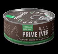 Консервы Prime Ever Holistic для котят и кошек цыпленок с овощами в желе Chicken Topped With Vegetables