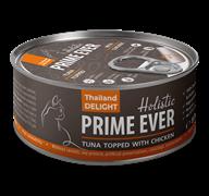 Консервы Prime Ever Holistic для котят и кошек тунец с цыпленком в желе Tuna Topped With Chicken