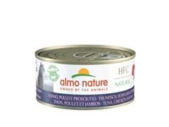 Консервы ALMO NATURE для взрослых кошек с курицей, тунцом и ветчиной HFC - Natural - Tuna, Chicken and Ham