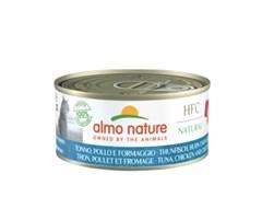 Консервы ALMO NATURE для взрослых кошек с тунцом, курицей и сыром HFC - Natural - Tuna, Chicken and Cheese