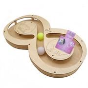 Игровой комплекс для кошек Glory Life Восьмерка с двумя шариками размер 49х27х3,6 см