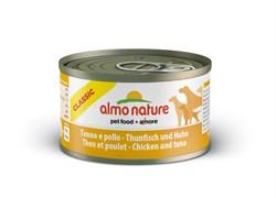 Консервы ALMO NATURE Classic Tuna Chicken для взрослых собак с тунцом и курицей