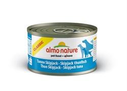 Консервы ALMO NATURE Classic Skip Jack Tuna для взрослых собак с полосатым тунцом и треской