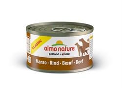 Консервы ALMO NATURE Classic Beef для взрослых собак с говядиной