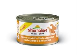 Консервы ALMO NATURE Classic Beef Ham для взрослых собак с говядиной и ветчиной