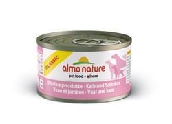 Консервы ALMO NATURE Classic Veal Ham для взрослых собак с телятиной и ветчиной