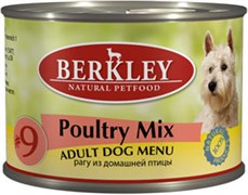 "Консервы BERKLEY Adult Poultry Mix №9 для собак ""Рагу из птицы цыпленок, индейка и утка"""