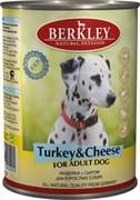 Консервы BERKLEY Adult Turkey Cheese для собак с индейкой и сыром