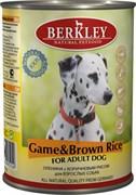 Консервы BERKLEY Adult Game Brown Rice для собак с олениной и коричневым рисом