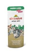 Лакомство Almo Nature для кошек  Куриное филе , 99% мяса (Green Label Mini Food Chicken Fillet), 3