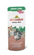 Лакомство Almo Nature для кошек  Филе Лосося , 99% мяса (Green Label Mini Food Salmon Fillet), 3 гр