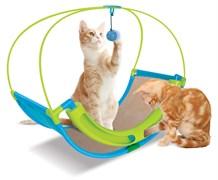 Когтеточка Kitty City для кошек Школа Рока.  Rocking Roller  46*60*33см, сизаль (sp0344).