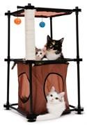 Игровой комплекс с когтеточкой Kitty City для кошек: Биг Бен.  Tower : 79*45*45см, сизаль (sp0301).