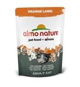 Сухой корм ALMO NATURE Orange label Cat Sardines для кастрированных кошек с сардинами