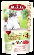 Пауч BERKLEY Fricassee Turkey Lamb with Berries для взрослых кошек №4 – индейка с ягненком и ягодами в желе