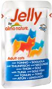 Пауч ALMO NATURE Jelly Cat Tuna White Bait для взрослых кошек тунец с сардинами в желе