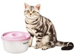 Автоматическая поилка фонтан для кошек и собак Feed-Ex PW-05P. Цвет розовый.
