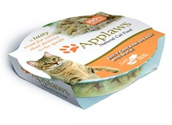 Консервы APPLAWS для взрослых кошек Сочная куриная грудка с уткой Cat Juicy Chicken Breast with Duck
