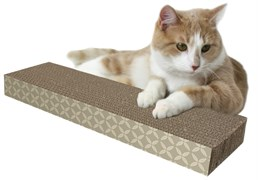 Когтеточка-доска Kitty City 5х13х46 см, картон, Small corrugate scratcher