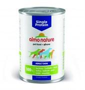 Консервы ALMO NATURE Single protein Turkey для собак с чувствительным пищеварением с индейкой