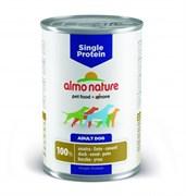 Консервы ALMO NATURE Single protein Duck для собак с чувствительным пищеварением с уткой