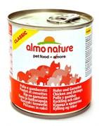 Консервы ALMO NATURE Classic Adult Chicken and Shrimps для взрослых кошек с курицей и креветками