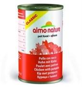 Консервы ALMO NATURE Classic Adult Chicken and Pumkin для взрослых кошек с курицей и тыквой