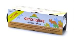 Консервы ALMO NATURE низкокалорийные для взрослых кошек c куриной грудкой и пятнистым индо–тихоокеанским тунцом набор 3 шт. Classic Light Cat Chicken Breast/Eastern Little Tuna
