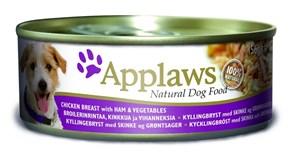 Консервы APPLAWS Dog Chicken/Ham/Veg для собак курицей, ветчиной и овощами