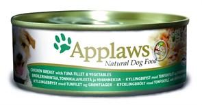Консервы APPLAWS Dog Chicken/Tuna/Veg для собак с курицей, тунцом и овощами