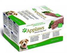 Консервы APPLAWS Dog pate Chicken Lamb Salmon паштет для собак с курицей с ягненком лосось набор 5 шт